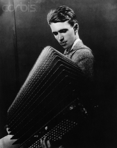 Young James Stewart Playing Accordion