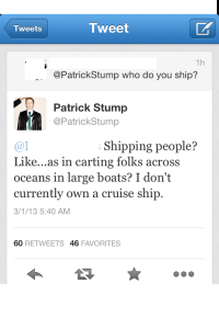 shipping tweets?
