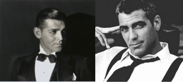 Clark Gable and George Clooney