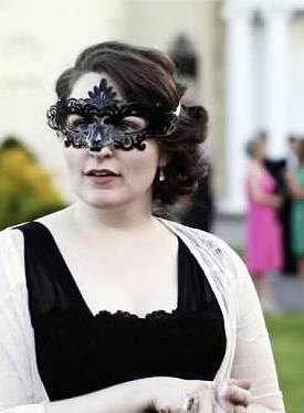 Me, in a mask, because it was a masquerade!