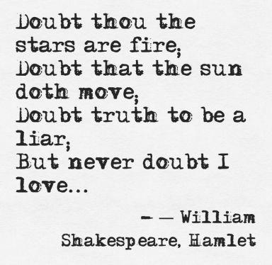 doubt not. . .
