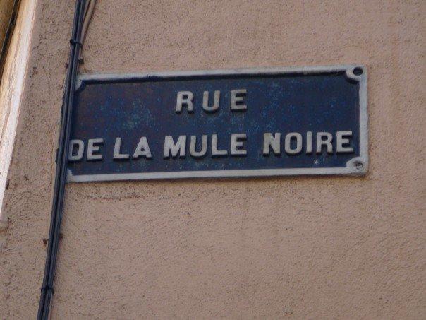Rue de la Mule Noire - panneau