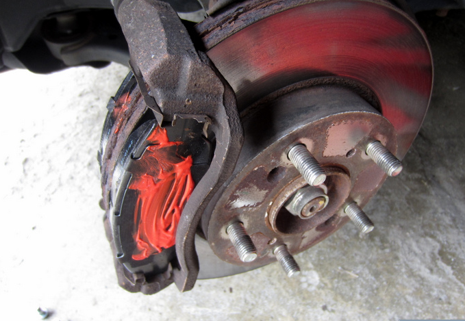 There they are - New Brake Pads!
