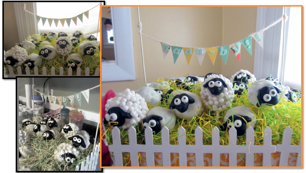 animal party baby shower decor baby shower food cake pops