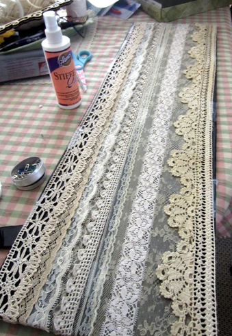 Spray the lace