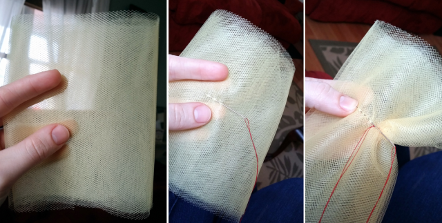 step 3 - sewing through the middle