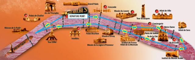 Bateaux mouche map - explanation