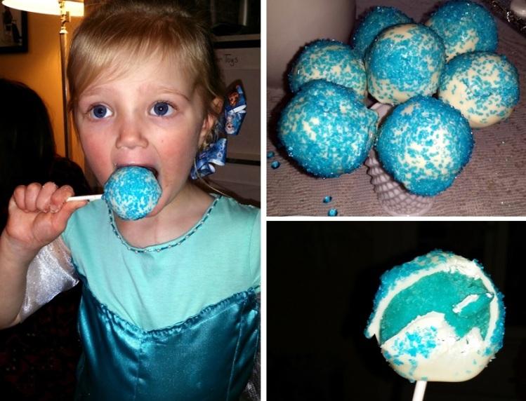 cake pops - frozen party