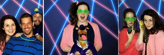 nineties-themed photo booth