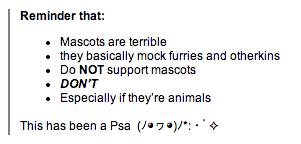 blogpost about mascots