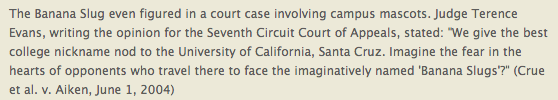 Supreme Court Banana Slug Nod