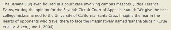 Supreme Court Banana Slug Nod