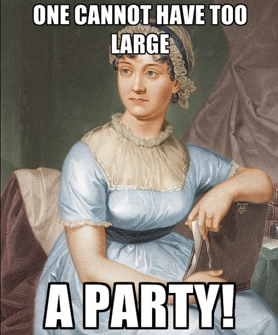 jane austen meme - birthday party