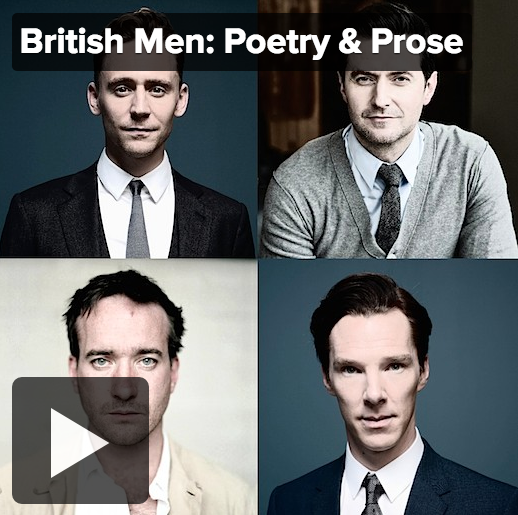 Beautiful Men Reading Beautiful Words with their Beautiful Voices